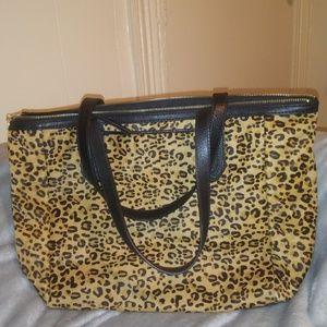Fossil leopard print bag